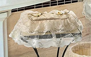 Violet Linen Luxurious and Elegant Tissue Box Cover, Gold