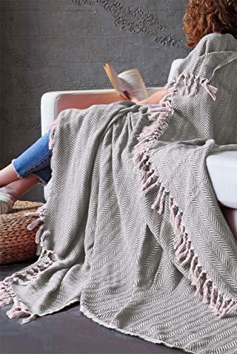 Mixibaby Tagesdecke Wohndecke Wendedecke Kuscheldeck Sofadecke Couchdecke, Farbe:Beige