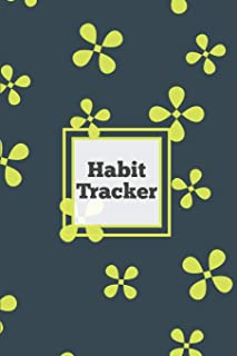 Habit Tracker: Daily & Monthly Track Your Habits Grid Planner, Undated Calendar Month, Journal, Notebook, Book
