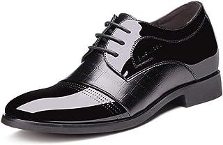XIGUAFR Chaussure en Cuir Souple d'uniforme de Costume Habillée a Lacet Montante à 4CM Homme Chaussure de Travail Décontra...