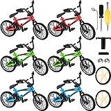 6 Paquetes Bicicletas Dedo Bicicletas de Montaña Mini de Dedo con Cuerdas de Freno Juguete de Bicicleta de Dedo con Ruedas y Herramientas de Repuesto Regalos Creativos de Juegos de Chico Juguete