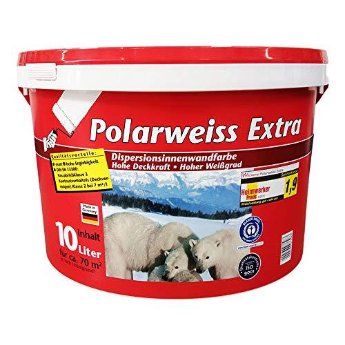 Wilckens Innenfarbe Polarweiss extra Weiß Wandfarbe Dispersionsfarbe 10 L