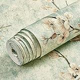 LZYMLG Papel pintado autoadhesivo no tejido retro nórdico dormitorio sala de estar pared papel pintado decorativo DIY engrosamiento impermeable Cian claro