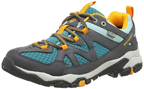 Merrell Merrell Tahr Waterproof, Women Low Rise Hiking Shoes, Grey (Castle Rock/Lake Blue), 4 UK (37 EU)