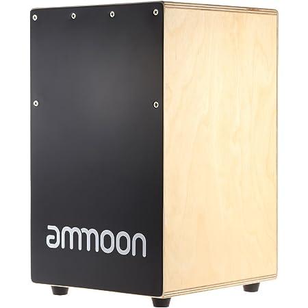 ammoon Strumento a Percussione Box Cajon in Legno a Mano Tamburo I Bambini del Tamburo con i Piedi di Gomma Stings