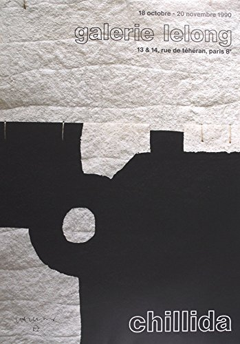 Eduardo Chillida–Original Vintage–Póster de exposición C1990(Galerie Lelong, París)