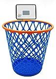 Hoopster Basketball Courtside Wastepaper Basket, Kansas Trash Can