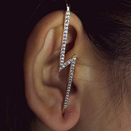 JEFEYI Tobillera de Playa Pendientes de Cristal de Moda con Pendientes Cruzados geométricos Pendientes de Perla Pendientes de Escalador gift-63600