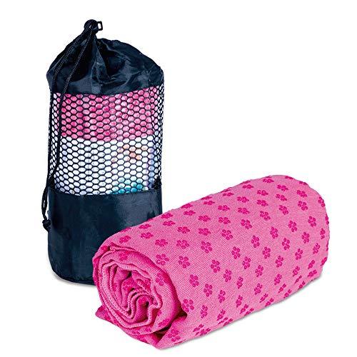 NEWPOWER - Toalla Yoga Antideslizante (183cm x 63cm), de Secado Rápido, Sensible a la Piel y Absorbente. Toalla Microfibra Ideal para Ashtanga, Bikram, Yoga, Pilates y Fitness. Apta para Lavadoras