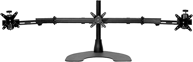 Ergotech Triple LCD Monitor Desk Mount Stand with Telescopic Wings/3 Screens up to 27