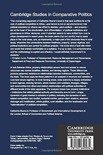 Property and Political Order in Africa: Land Rights and the Structure of Politics (Cambridge Studies in Comparative Politics)