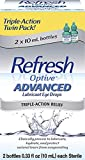 Refresh Optive Lubricant Eye Drops Advanced - 0.33 fl oz twin pack by Refresh