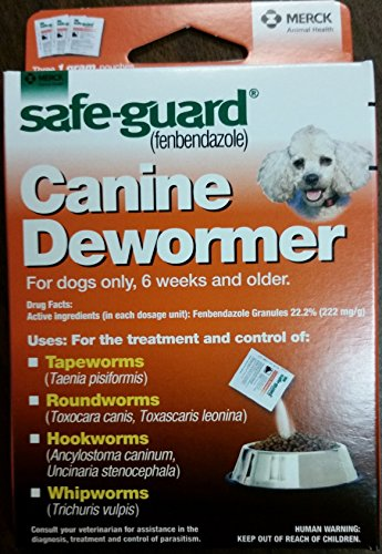 Wormers Dewormer 8 in 1 Safe Guard Canine Anti Parasite Small Dog Puppies 3 Day