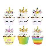 Konsait Einhorn Cupcake Toppers und Cupcake...