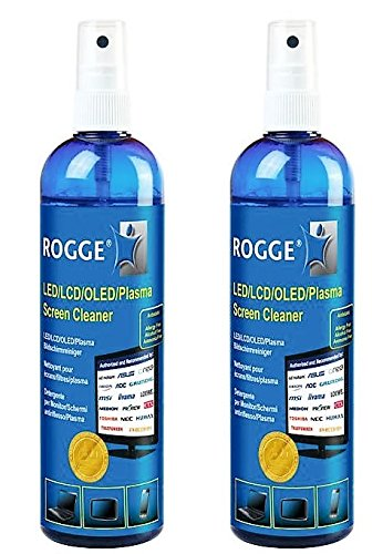 ROGGE Original Doppel Pack. 2X 250ml LCD,TFT,LED,OLED + Plasma Screen Cleaner.