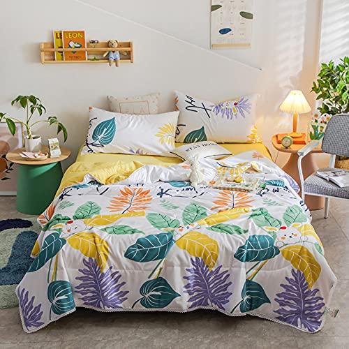 Funda de Cama Microfibra Sofá, Lavar el algodón Verano Fresco es el Aire Acondicionado del bebé Que es estudiado por el Regalo de Dormitorio de los Estudiantes-F2_180x200cm