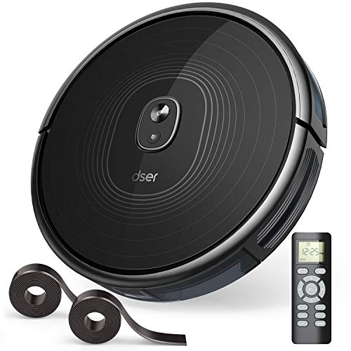 dser Robot Vacuum Cleaner, 2200Pa Max Suction, Auto-Charge, Boundary Strip Supported, Super Quiet Ultra-Thin Body Big Dust Bin Robotic Vacuum for Hard Floor Carpet (RoboGeek 22T) Dining Features Kitchen Robotic Vacuums