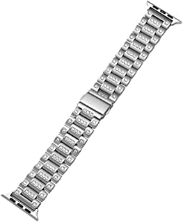 BONSTRAP unisex stainless steel watch armband stap replacement compatible with apple watch band