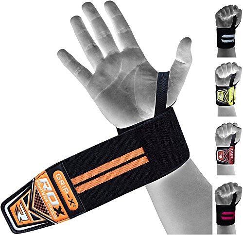 RDX Zughilfen Gym Straps Gewichtheben Handgelenkstütze Zughilfe Fitness Handgelenkbandage Latzughilfe (MEHRWEG)