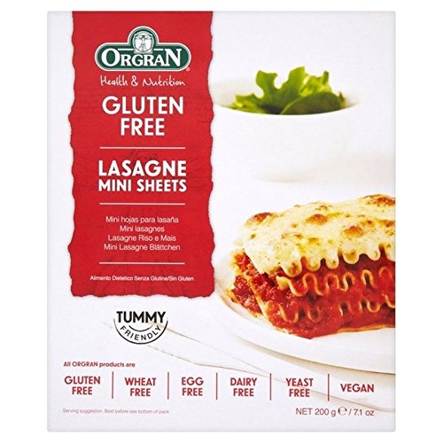 Orgran Free From Mini Super sale period 2021 limited Lasagne Sheets of Pack 200g - 2
