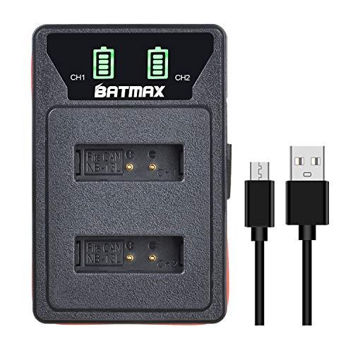 Batmax Rapid NB-13L - Cargador de batería USB para Canon NB-13L, Canon PowerShot, G5X, G7X, G9X, G7X Mark II, G9X Mark II, SX720 HS, SX620