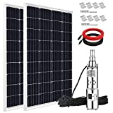 ECO-WORTHY 200W Solar Power Water Pump System, 24V 3'' Solar Deep Well Pump Large Flow High Head Lift with 200W Solar Panel and 16ft Extension Cable for Farm, Ponds, Irrigation, Industrial, Home Use