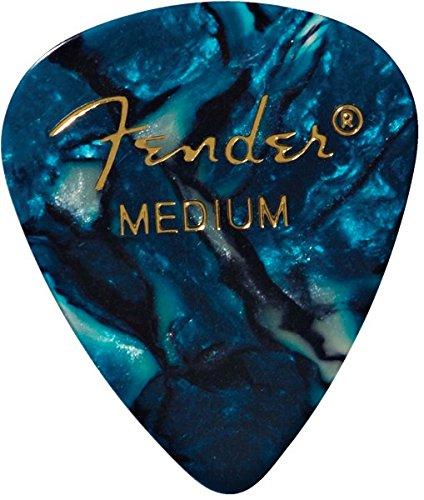 Fender 351 - Púas de celuloide clásicas medianas, 12 unidades, turqu