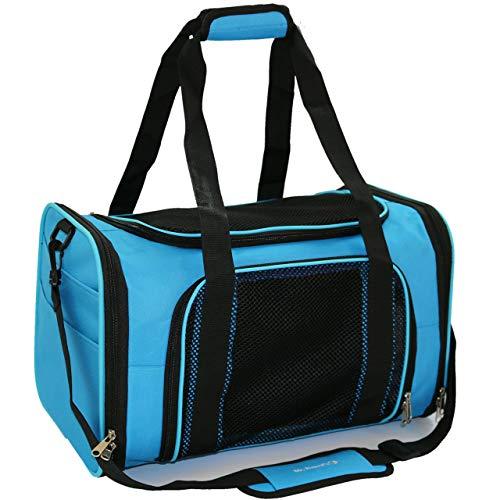 Mr. Peanut's Airline - Bolsa de viaje para mascotas de cara suave, con funda acolchada suave y base de madera de 1/4 pulgadas, cinturón de seguridad y equipaje, perfecto para...