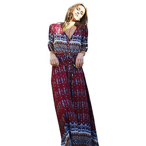 Robe Femmes,Xinantime Robe Femme de Cocktail Vintage Rockabilly Robe plissée au Genou sans Manches col carré Rétro