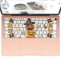 igsticker MacBook Air 13inch 2018 専用 キーボード用スキンシール キートップ ステッカー A1932 Apple マックブック エア ノートパソコン アクセサリー 保護 015412 ハロウィン カボチャ お菓子 英字