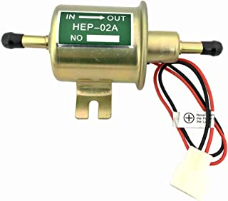 Inline Fuel Pump 12v Electric Transfer Universal Low Pressure Gas Diesel Fuel Pump 2.5-4psi HEP-02A