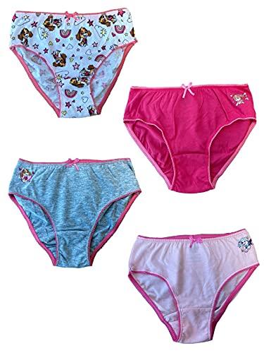 PAW PATROL - 4-pack trosor motiv 2020 med Skye – underkläder för flickor med nya motiv från Skye – kalsonger i set om 4