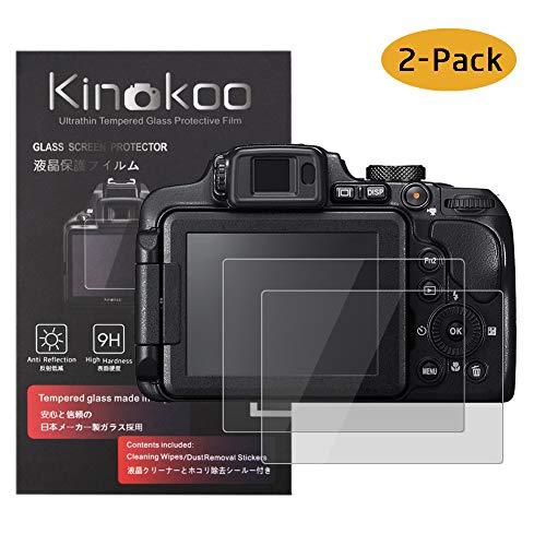 kinokoo Película de Vidrio Templado para Nikon B700/P900/P610/P600/S9900 Crystal Clear Film Protector de Pantalla Nikon B700 P900 P610 P600 S9900 sin Burbujas/antiarañazos (Paquete de 2)