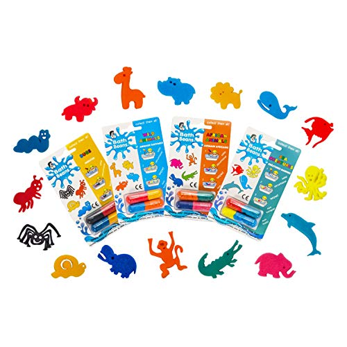 Bath Beans - Sea Creature, African Animals, Bugs & Wild Animals - ANIMAL LOVERS BEST BUNDLE. For children 3+ yrs. Giant magic capsules unfold into sponge toy characters when dropped into warm water