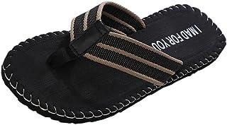comprar comparacion Zapatillas de Casa para Hombre Yesmile Zapatos de Verano de Hombre con Patrón del Alfabeto Chanclas de Interior o al Aire ...