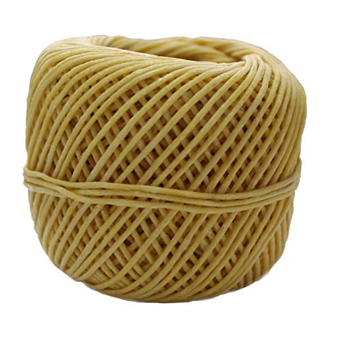 Cozyours Organic Hemp Wick (210 FT, 1mm) with Natural Beeswax Coating