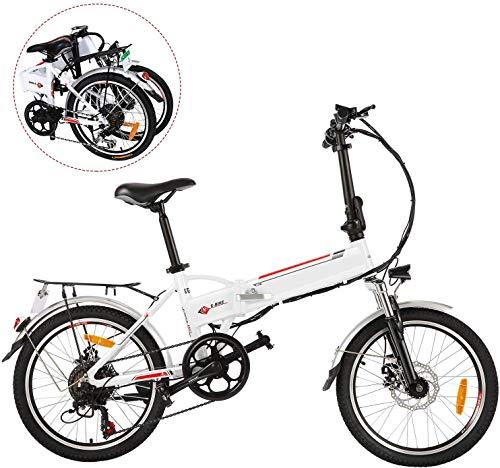 BIKFUN 20/26' Electric Bike, Electric Mountain Bicyle/Commuting Ebike for Adults Men and Women, 36V 8Ah Folding/Unfolding Bike with Professional Shifting and Braking System