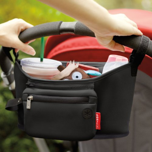 Skip Hop Universal Stroller Organizer: Insulated Beverage and Essentials Stroller Caddy, Black