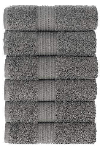 MAURA HOME Luxus Handtücher Set 100% Baumwolle. Hotel & Spa Qualität. 6 große Handtücher 50x100. Schnell trocknende Frottiertücher. Weich, plüschig und stark saugfähig.