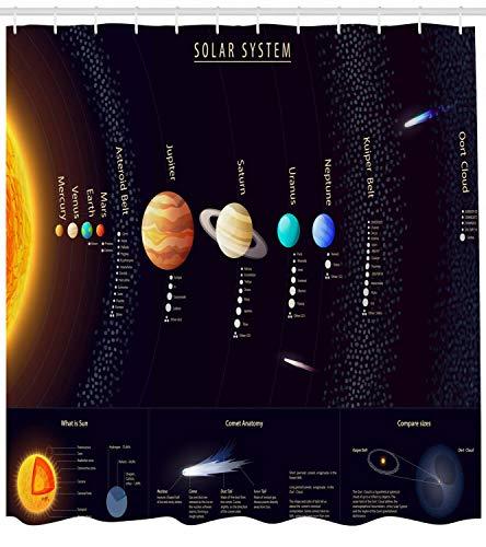 ijiashunf Bunter Jupiter Saturn Planet Leicht zu reinigender antibakterieller HD-Duschvorhang