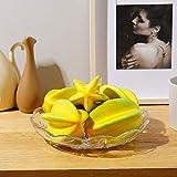 JUSTOYOU Caramboles Artificiales de Frutas Artificiales, simulación Realista, Carambola, decoración para casa, Cocina, Fiesta, 6 Unidades