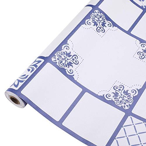 KINLO Mosaikfliesen 61 x 500cm Wandaufkleber Selbstklebende PVC Klebefliesen Wandfliesen für Badzimmer & Küche, Fliesenfolie Fliesenaufkleber Fliesen-Folie Fliesen Aufkleber Mosaik Wanddeko Typ-K