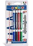 Carioca Fine - Bolsa de 4 rotuladores borrables para pizarra blanca, multicolor