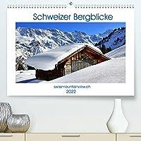 Schweizer Bergblicke (Premium, hochwertiger DIN A2 Wandkalender 2022, Kunstdruck in Hochglanz): Schweizer Bergblicke zu jeder Jahreszeit (Monatskalender, 14 Seiten )