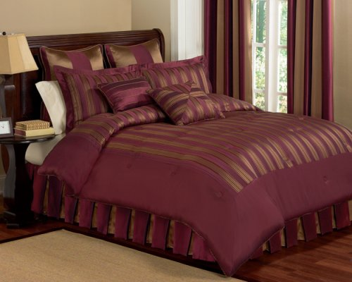 raymond waites capri king comforter set wine jeremyleslie96. Black Bedroom Furniture Sets. Home Design Ideas