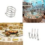 OUNONA 10 Stücke Spirale Serviettenringe für Zuhause, Küche, Esszimmer (Silber) - 4