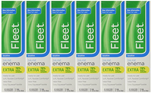 Fleet Saline Laxative Enema 7.8 oz (pack of 6)