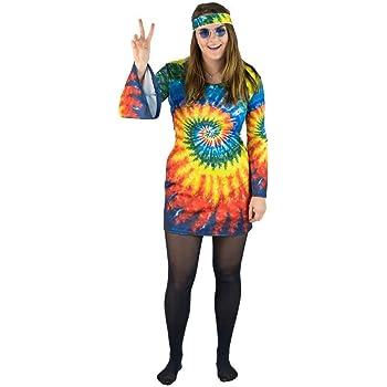 Bodysocks Fancy Dress Disfraz de Hippie de los 60 y 70 para Mujer ...