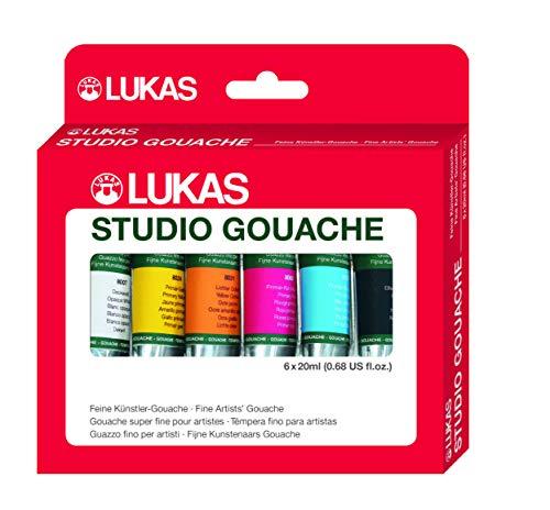 Lukas Gouache Art & Design 6 x 20 ml Set Finest Künstler Gouache