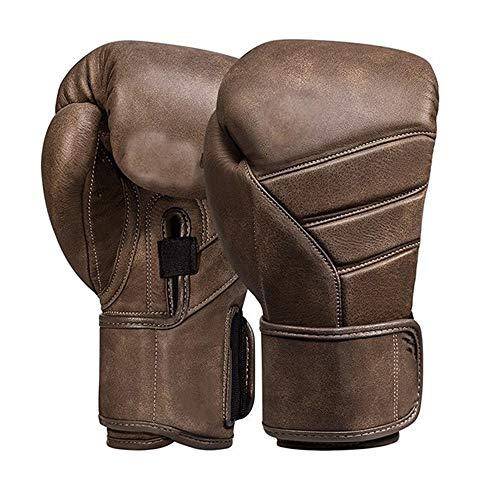 LINPAN Gants de Boxe Gants de Boxe for Les Hommes et Les Femmes Gants de Boxe Gants Sanda Fighting Gants en Cuir Artificiel Muay Thai pour la Formation Sparring Thai MMA Mitts Muay